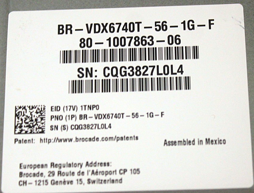 Details about Brocade BR-VDX6740T-56-1G-F VDX 6740T 56-ports Ethernet Switch