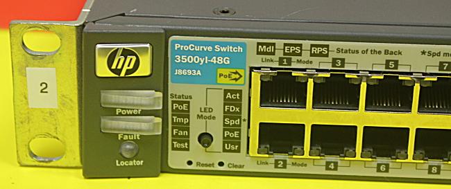 HP J8693A 3500-48G-PoE yl Switch w// 48 PoE Ethernet Ports /& 4 SFP Ports JMW