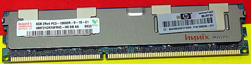 8GB Genuine HP 500205-071 500662-B21 PC3-10600R DDR3 1333 Server Memory RAM